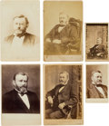 Photography:Cabinet Photos, Ulysses S. Grant: Four Cabinet Cards and Two Cartes deVisite.... (Total: 6 )