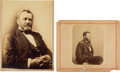 Photography:Studio Portraits, Ulysses S. Grant: Two Large Mounted Photos.... (Total: 2 )