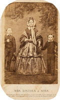 Photography:CDVs, Mary, Willie, and Tad Lincoln Carte de Visite, circa 1860....