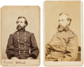 Photography:CDVs, Union General Orlando B. Wilcox: Two Cartes de Visite (One Signed).... (Total: 2 )