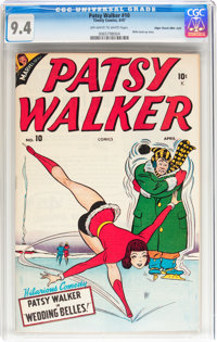 Patsy Walker #10 Mile High pedigree (Timely, 1947) CGC NM 9.4 Off-white to white pages