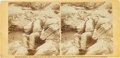 """Photography:Stereo Cards, Civil War Stereoview of """"All Over Now - Confederate Sharp-Shooter at Foot of Round Top, Gettysburg"""" by Alexander Gardner...."""