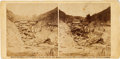 """Photography:Stereo Cards, Civil War Stereoview """"Rocks Could Not Save Him at the Battle of Gettysburg"""" by Alexander Gardner...."""