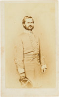 Autographs:Military Figures, Confederate General William N. R. Beall Signed Civil War-PeriodCarte de Visite....
