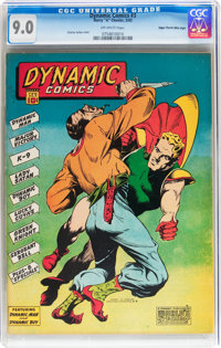 Dynamic Comics #3 Mile High pedigree (Chesler, 1942) CGC VF/NM 9.0 Off-white pages