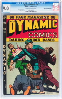 Dynamic Comics #23 Mile High pedigree (Chesler, 1947) CGC VF/NM 9.0 Off-white to white pages