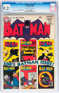 Batman #100 (DC, 1956) CGC NM- 9.2 Off-white to white pages