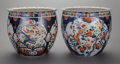Asian:Japanese, A PAIR OF JAPANESE IMARI PORCELAIN JARDINIÈRES, late Meiji period.12-1/4 inches high x 14-1/4 inches diameter (31.0 x 36.2 ...(Total: 2 Items)
