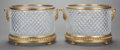 Decorative Arts, French:Other , A PAIR OF CUT GLASS AND GILT BRONZE MOUNTED JARDINIÈRES, 20thcentury. 10-1/2 x 16-1/2 x 14-1/2 inches (26.7 x 41.9 x 36.8 c...(Total: 2 Items)