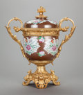 Other, A CHINESE PAINTED PORCELAIN FRUIT COOLER WITH GILT BRONZE MOUNTS IN THE LOUIS XV TASTE, 18th century with later gilt bronze...