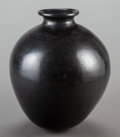 American Indian Art:Pottery, A Large Blackware Storage Jar Height: 17 inche...