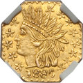 California Fractional Gold: , 1880 25C Indian Octagonal 25 Cents, BG-799X, R.3, MS65 NGC. NGCCensus: (9/1). PCGS Population (19/1). ...