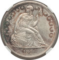 Seated Dollars: , 1860-O $1 -- Improperly Cleaned -- NGC Details. Unc. NGC Census:(59/403). PCGS Population (166/561). Mintage: 515,000. Num...