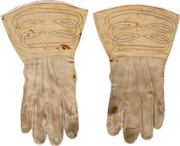 George Armstrong Custer: His Personal Indian War Era Lambskin Gauntlets with Family Provenance
