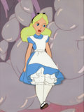 Animation Art:Production Cel, Alice in Wonderland Production Cel Setup with Walt DisneySignature (Walt Disney, 1951)....