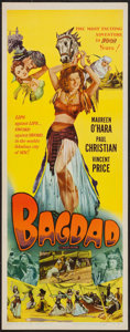 "Movie Posters:Adventure, Bagdad (Realart, R-1956). Insert (14"" X 36""). Adventure.. ..."