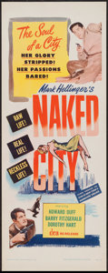 "Movie Posters:Crime, Naked City (DCA, R-1956). Insert (14"" X 36""). Crime.. ..."