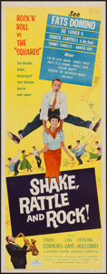 """Movie Posters:Rock and Roll, Shake, Rattle and Rock (American International, 1956). Insert (14""""X 36""""). Rock and Roll.. ..."""