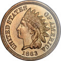 Proof Indian Cents, 1863 1C PR66 Cameo NGC. CAC....