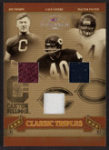 "Football Cards:Singles (1970-Now), 2006 Donruss ""Classic Triples"" Thorpe/Sayers/Payton Swatch Card #'d19 of 50. ..."