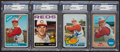 Autographs:Sports Cards, Signed 1964 - 1968 Topps Pete Rose Cards Group (4). ...