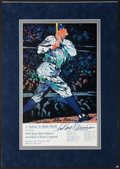 Baseball Collectibles:Others, 1995 Babe Ruth Print Signed by LeRoy Neiman....