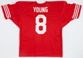Football Collectibles:Uniforms, 1990's Steve Young Signed San Francisco 49ers Jersey. ...