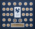 Baseball Collectibles:Others, New York Yankees World Championship Coins Display....
