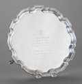 Silver Holloware, British:Holloware, A ENGLISH SILVER FOOTED SALVER, Adie Brothers Ltd., Birmingham,England, circa 1932-1933. Marks: (lion passant), (anchor), ...