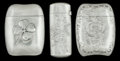 Silver Smalls:Match Safes, THREE AMERICAN SILVER MATCH SAFES, Gorham Manufacturing Co.,Providence, Rhode Island, circa 1900. Marks: (lion-anchor-G), ...(Total: 3 Items)