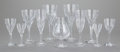 Art Glass:Other , A FIFTY-SIX PIECE FRENCH GLASS STEMWARE SERVICE, St. Louis Crystal,Saint-Louis-lès-Bitche, France, 20th century. Marks: S...(Total: 62 Items)