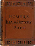 Books:Literature Pre-1900, [Alexander Pope, translator]. Homer. The Iliad and Odyssey.London: George Routledge, [1891]. Twelvemo. Contemporary...