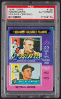 """Autographs:Sports Cards, 1975 Topps """"1960 MVPs"""" Roger Maris-Dick Groat #198 PSA/DNAAuthentic - Signed by Maris. ..."""