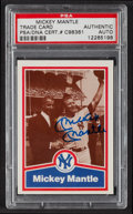 Autographs:Sports Cards, 1989 CMC Mickey Mantle Signed Baseball Card PSA/DNA Authentic. ...