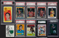 Basketball Cards:Lots, 1970's-2000's Football, Basketball & Hockey Stars and HoFersCard Collection (13) with Bird Jersey Swatch Card. ...