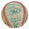 Autographs:Baseballs, 1985 New York Mets Team Signed Baseball. ...