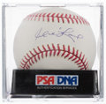 Autographs:Baseballs, Manny Ramirez Single Signed Baseball, PSA Mint + 9.5....
