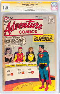 Adventure Comics #247 Signature Series (DC, 1958) CGC FR/GD 1.5 Off-white pages