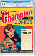 Golden Age (1938-1955):Adventure, Champion Comics #2 Mile High pedigree (Harvey, 1939) CGC NM- 9.2 White pages....