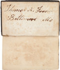 Miscellaneous:Ephemera, Maryland Soldier's Pocket New Testament....