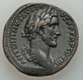 Ancients:Roman Imperial, Ancients: Antoninus Pius (AD 138-161). Lot of two (2) orichalcumsestertii. ... (Total: 2 coins)