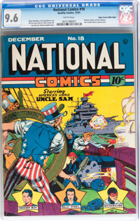 National Comics #18 Mile High pedigree (Quality, 1941) CGC NM+ 9.6 White pages