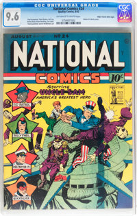 National Comics #24 Mile High pedigree (Quality, 1942) CGC NM+ 9.6 Off-white to white pages