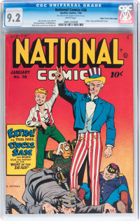 National Comics #38 Mile High pedigree (Quality, 1944) CGC NM- 9.2 White pages