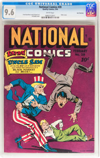 National Comics #39 San Francisco pedigree (Quality, 1944) CGC NM+ 9.6 White pages