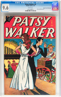 Patsy Walker #9 Mile High pedigree (Timely, 1947) CGC NM+ 9.6 White pages
