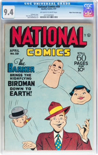 National Comics #59 Mile High pedigree (Quality, 1947) CGC NM 9.4 Off-white to white pages