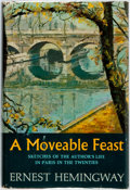 Books:Biography & Memoir, Ernest Hemingway. A Moveable Feast. New York: Scribner's,[1964]. First edition, first printing. Publisher's binding...