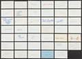 Autographs:Index Cards, Baseball Greats Signed Index Cards Lot Of 41....