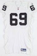 Football Collectibles:Uniforms, 2009 Khalif Barnes Oakland Raiders Game Worn Jersey....
